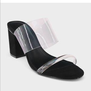 Who What Wear Translucent Block Heel Sandals
